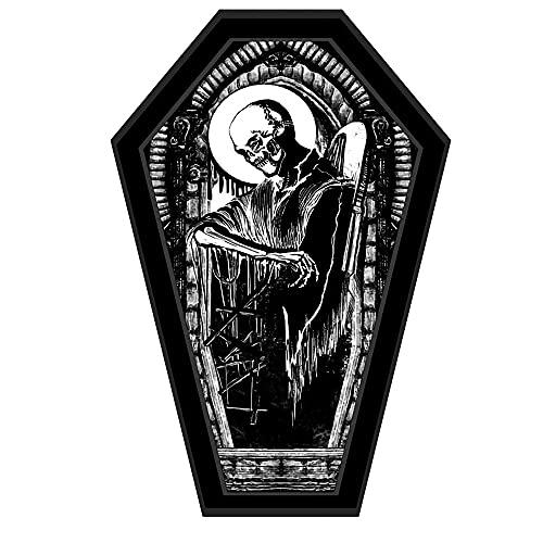 Mochila gótica Coffin Rose Bolso de Mano Bolso Bandolera Cross Tote Damasco PVC Negro Hip Hop Cool Girl Boy Mochila