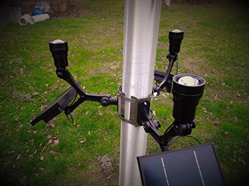 PolePalUSA Xtreme Commercial Solar Flagpole Light CREE Light