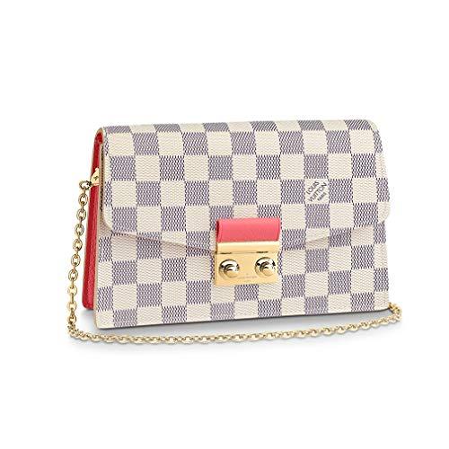 Louis Vuitton Damier Azur Canvas Croisette Chain Wallet Croisette Chain Wallet Article: N60358
