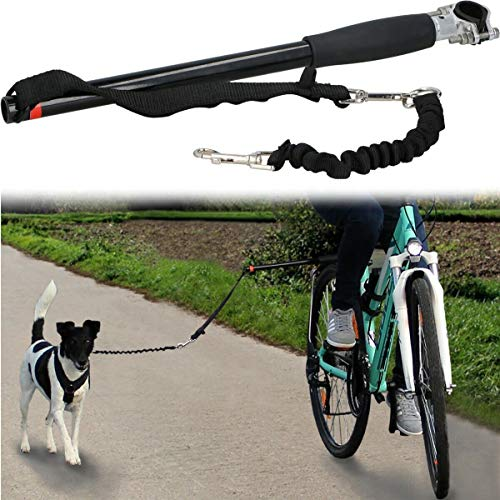Hinzonek Correa para Bicicleta para Perros Correas para Perros con Manos Libres Correa para Ejercitar en Bicicleta para Perros para Ejercitarse Entrenamiento Trotar Ciclismo para Perros
