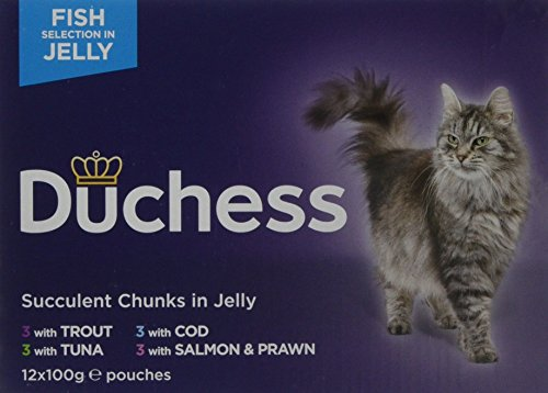 Duchess Complete Fish Selection in Jelly Wet Cat Food, 12 x 100 g