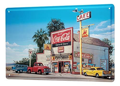 LEotiE SINCE 2004 Georg Huber Blechschild Abenteurer Wand Deko Tankstelle Amerika Nostalgie Metallschild 20x30 cm