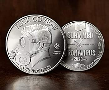 ZFG Inc I Survived 2020 Commemorative Coin Silver or Gold Collectible Zero F s Given Giftable Novelty 1-Count  Silver