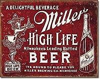 ミラー高ライフTINサイン金属ビール広告ポスターバー壁の装飾2075