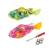 Blackhole Interactive Swimming Robot Fish Toy for Cat with LED Light (2pcs), Cat Toy to Stimulate Hunter Instincts. (Batteries Included)