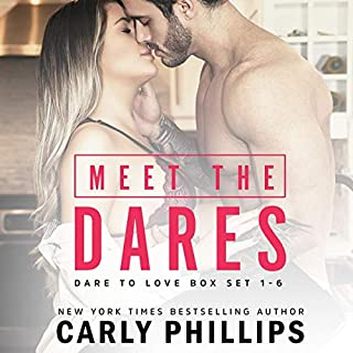 Meet the Dares: Dare to Love Box Set     The Dare to Love Series, Books 1-6              Written by:                                                                                                                                 Carly Phillips                               Narrated by:                                                                                                                                 Sophie Eastlake                      Length: 36 hrs and 40 mins     Not rated yet     Overall 0.0