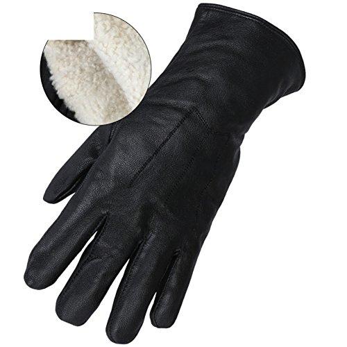 hhsgcggy Handschuhe/Kälte isolierende Handschuhe im kalten Bereich-Schwarz One Size
