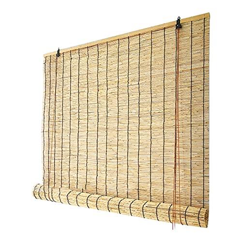 LTINN Tende a lamelle Naturali Retro Bamboo Roll Up Shade Shades di bambù per Patio Bamboo Blinds Outdoor Bamboo per Esterno Interno Dimensioni Personalizzate