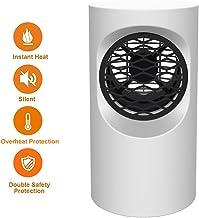 Calefactor Portátil Eléctrico Mini Calefactor Silencioso con Calentador Rápido de Cerámica PTC, Ventilador Calentador, Ahorro de Energía, para Baño Oficina Dormitorio,Blanco