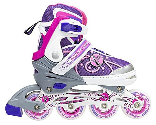 Nils Extreme Kinder Inline Skates Inliner Rollschuhe Inlineskating Skating Damen NA1152 (pink, L)