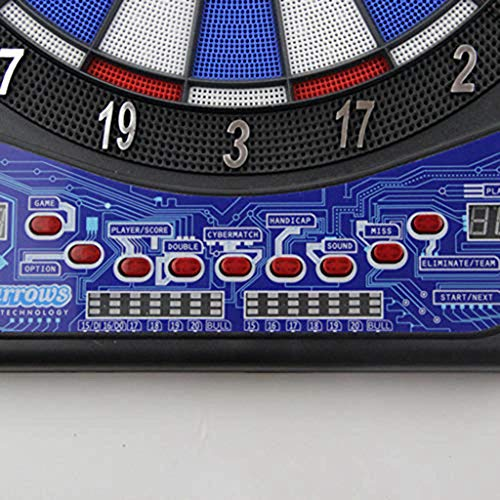 HYZXK 17-inch Secure Electronic Dart Board Set, LED Score Display, Automatic Scoring English Voice Broadcast Darts Target