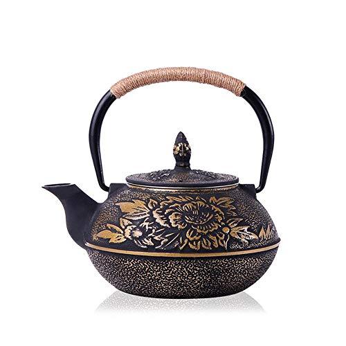 NoneBrand Tetera pequeña, Juego de té de Hierro Fundido, Capacidad de 900 ml, Aislamiento térmico, diseño Grueso, 10 * 8 * 9.5 cm, con Filtro