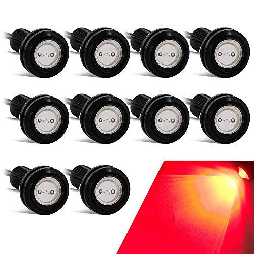 10PCS Alto Poder 18mm 9W Luz de ojo de águila Luz LED Para Automóvil Moto Luz Diurna Eagle Eye DRL Luces de Marcado (Rojo)