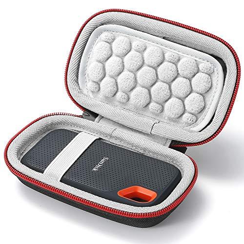 Hard Case für SanDisk 250 GB / 500 GB / 1 TB / 2 TB Extreme SSD SDSSDE60, Tragetasche - Schwarz