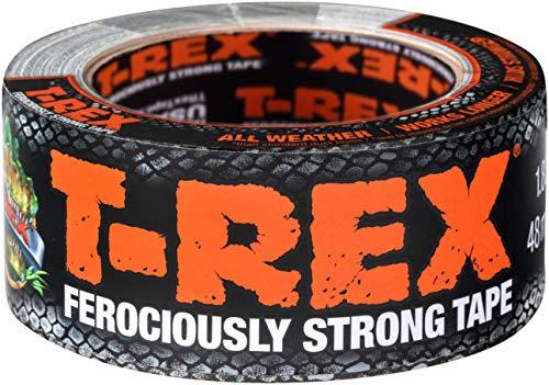 T-Rex Tape 821-47 Gewebeband – Extrem starkes Panzertape – Wasserdichtes Reparaturband für innen & außen – Klebeband zum Reparieren & Befestigen – 48mm x 10,90m, Grau