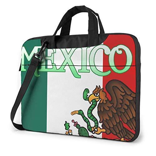 XCNGG Die Flagge der mexikanischen Laptoptasche Stoßfeste Aktentasche Tablet Carry Handtasche für Business Trip Office 14 Zoll
