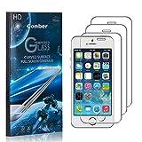 Conber [3 Pièces] Verre Trempé pour iPhone SE/iPhone 5 / iPhone 5S, [9H Dureté][sans Bulles][Haut...