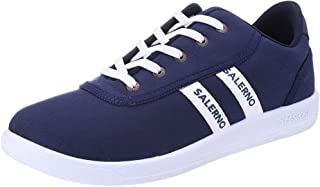 Salerno Contrast Side Strip Lace-Up Textile Sneakers for Men