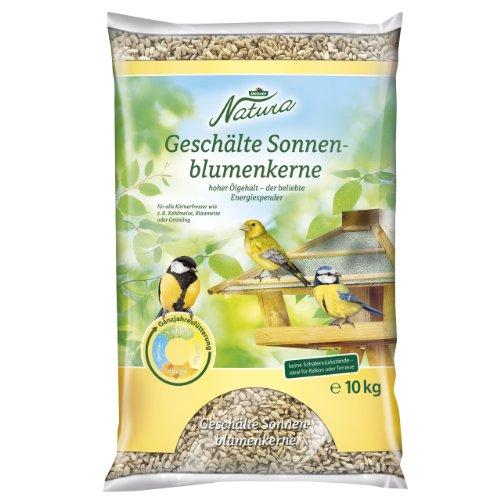 Dehner Natura Wildvogelfutter, geschälte Sonnenblumenkerne, 10 kg