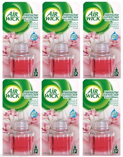 Air Wick Duftstecker nachfüller 6 x 19ml neu Magnolia & kirschblüte