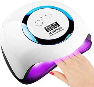 168W Nail Lamp, UV LED Nail Lamp 42 Lights Gel Polish Nail Curing Nail Dryer Nail Light with 4 Timer Setting