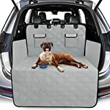 Toozey Complete Car Boot Protector for Dogs, 4 Layers Quilted & Durable Car Boot Dog Blanket with Side and Bumper Protector, Tearproof/Waterproof/Slip-proof/Hair-proof, Easy to Clean, Gray