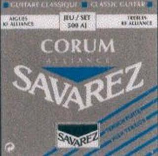 CUERDAS GUITARRA CLASICA - Savarez (500/AJ) Corum Alliance Azul (Juego Completo