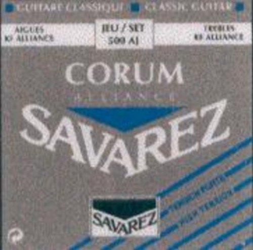 CUERDAS GUITARRA CLASICA - Savarez (500/AJ) Corum Alliance Azul (Juego Completo)