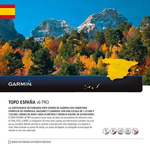 Garmin – Carte vectorielle topographique de l'Espagne Topo Spain V6 Pro, Multicolore, Taille Unique