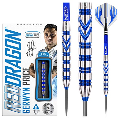 RED DRAGON Gerwyn Price 24g Tungsten Darts mit Flights und Schäfte