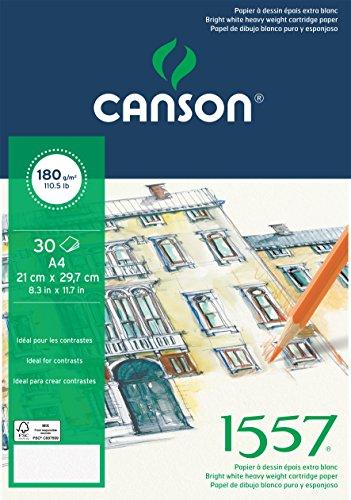 Bloc Encolado, A4, 30 Hojas, Canson Ja 1557, Grano