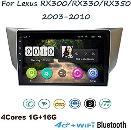 YLCCC Car Stereo Android 8.1 para Lexus RX300 RX330 RX350 2003-2010 Navegación GPS 9