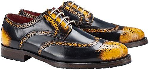 Wellensteyn Schuhe Donhurst farbig poliertes Leder (43, gelb scharz)
