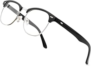 Unisex Stylish Oval Non-prescription Eyeglasses Glasses Clear Lens Eyewear