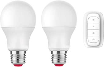 Smart Light Bulbs by EcoSmart with Remote   Alexa Zigbee & SmartThings Smart Home Compatible   Smart Bulb 2-Pack 60W Led L...