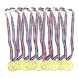 Aweisile Medallas 30 Piezas Medallas de Plastico Medallas para Medallas Winner con Hebilla para Medallas del día Deportivo Juegos de Fiesta para Competencia de Medallas