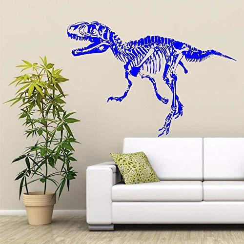mlpnko Skelett Dinosaurier Wandaufkleber Kinderzimmer Dinosaurier Kleber Vinyl Abnehmbare Wandkunst Aufkleber Aufkleber , 86x126cm