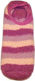 Snugadoo Super Soft Slipper Sock ~ Purples and Peach Stripes (One Size Non-Slip)
