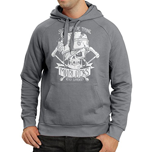 lepni.me N4605H Sudadera con Capucha Skate or Die Trying (Large Grafito Multicolor)