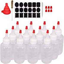 Belinlen 12 Pack 4-Ounce Plastic Squeeze Bottles with Red Tip Caps and Measurement - Good for Crafts, Art, Glue, Multi Pur...