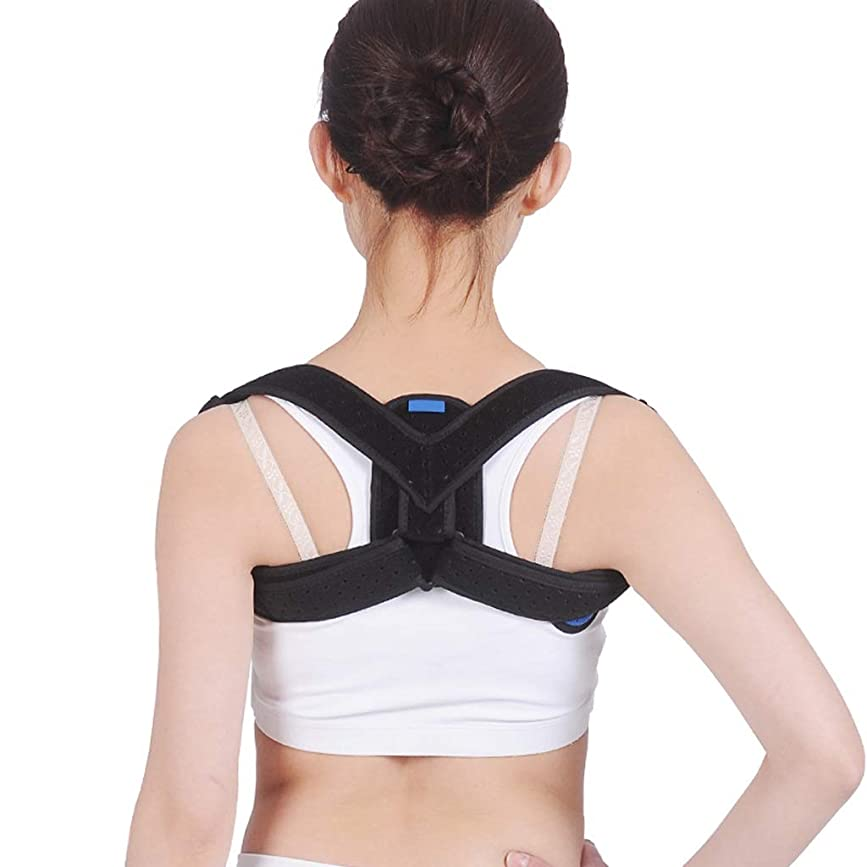 閃光ビーズいうハンプバック補正ベルト - 胸部の矯正を伴う跳躍を補正する調節可能なショルダーストラップ大人の学生の不自然な姿勢矯正ベルト Mena Uk