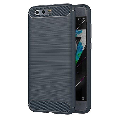 AICEK Honor 9 Hülle, Blau Silikon Handyhülle für Huawei Honor 9 Schutzhülle Karbon Optik Soft Case (5,15 Zoll)