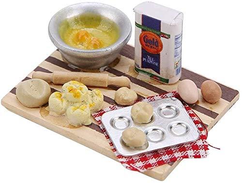 Wifehelper Casa de Muñecas Comida en Miniatura Exquisito a la Moda Pan de Cocina para Escala 1/12 Juguetes para Muñecas Juegos Accesorios de Cocina
