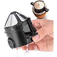 Rzjqz Double Layer Stainless Steel Coffee Filter Dripper
