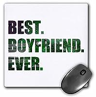 3drose Best Boyfriend Everカットアウトのグリーンコンピュータグラフィックマウスパッドマイクロチップ( MP _ 179714_ 1)