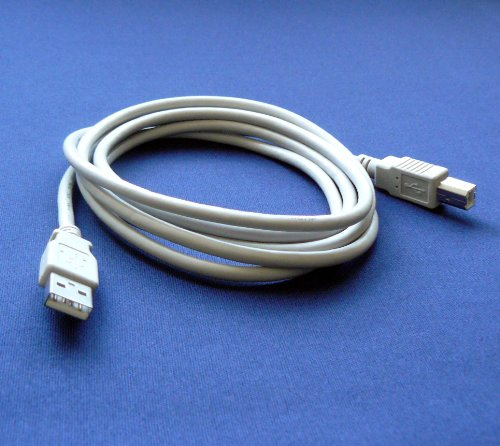 HP OfficeJet 4500 Wireless Printer Compatible USB 2.0 Cable Cord for PC, Notebook, Macbook - 6 feet White - Bargains Depot