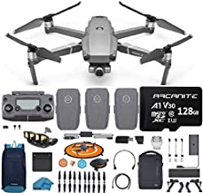 DJI Mavic 2 Zoom Drone Quadcopter Fly More Combo with 3 Batteries, 128GB SD Card with 24-48mm Optical Zoom Camera Bundle Kit with Must Have Accessories