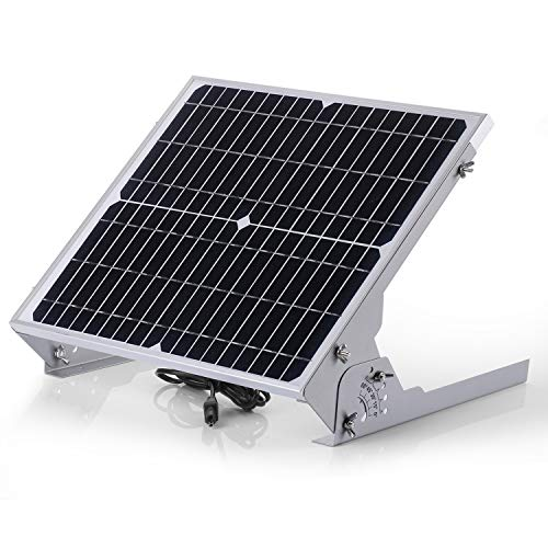 SUNER POWER 12V Waterproof Solar Battery Trickle Charger & Maintainer - 20 Watts Solar Panel Built-in Intelligent MPPT Solar Charge Controller + Adjustable Mount Bracket + SAE Connection Cable Kits