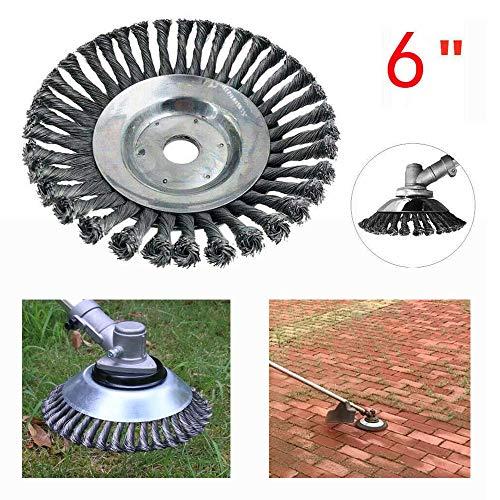 ZHANGZHIYUA 6 inch draadkop grastrimmer draadborstel staalborstel voor haakse slijper gereedschap voor onkruid reiniging tuinonderhoud