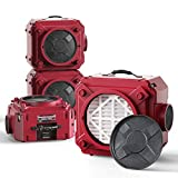 ALORAIR 4 Pack CleanShield HEPA 550 Industrial Commercial HEPA Air Scrubber, cETL Listed, GFCI Outlet, 10 Years Warranty, Red